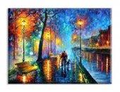 Sokak Lambaları Yağlıboya Reproduksiyon Yatay Kanvas Tablo 100 x 200 cm