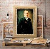 Ofis için Atatürk Portresi Kanvas Tablosu 50x70 cm-2