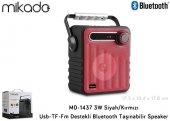 Mikado MD-1437 3W Kırmızı Radyolu Bluetooth Taşınabilir Speaker