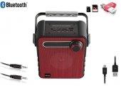 Mikado MD-1437 3W Kırmızı Radyolu Bluetooth Taşınabilir Speaker-6