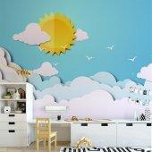 Çocuk Odası Duvar Kağıdı - Güneş - Seçenekli Ürün 600x300 cm