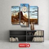 ördek ve sazlık tablo saat modelleri MODEL 8 - 123x60 cm-5