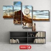 ördek ve sazlık tablo saat modelleri MODEL 8 - 123x60 cm-6