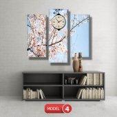 bahar  tabloları - saatli kanvas tabloları MODEL 2 - 129x75 cm-5
