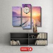 deniz manzaralı tablolar - saatli kanvas tablo MODEL 1 - 162x75 cm-5