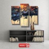 tekneler ve suda yansıması tablosu MODEL 11 - 126x60 cm-7