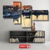 tekneler ve suda yansıması tablosu MODEL 11 - 126x60 cm-8