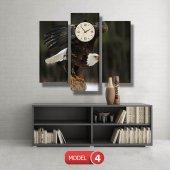 kartal -doğa tabloları- saatli kanvas tablo MODEL 3 - 126x60 cm-4