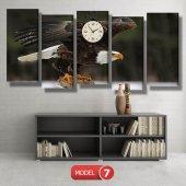 kartal -doğa tabloları- saatli kanvas tablo MODEL 3 - 126x60 cm-7