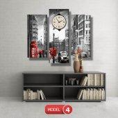 siyah-beyaz londra tablosu- saatli kanvas tablo MODEL 2 - 129x75 cm-5