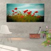 Kırmızı Gelincikler Kanvas Tablo 30 cm x 60 cm