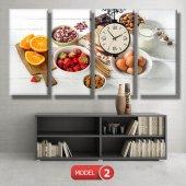 mutfak tabloları- saatli kanvas tablo MODEL 3 - 126x60 cm-3