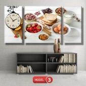 mutfak tabloları- saatli kanvas tablo MODEL 3 - 126x60 cm-4
