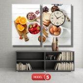 mutfak tabloları- saatli kanvas tablo MODEL 3 - 126x60 cm-6