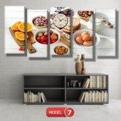 mutfak tabloları- saatli kanvas tablo MODEL 3 - 126x60 cm-7