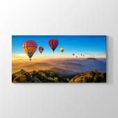 Renkli Sıcak Hava Balonları Tablosu 80 cm x 160 cm
