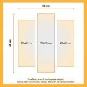 3 Parçalı Saatli Kanvas Tablo - Ofis Tablosu Duvar Saati BÜYÜK BOY-2