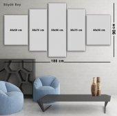 5 Parçalı Kanvas Tablo -Beyaz Gül Duvar  Tablosu BÜYÜK BOY-4