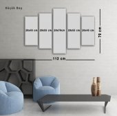 5 Parçalı Kanvas Tablo -  Güller  Duvar  Tablosu-2