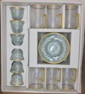 18 Parça Çay Ve Kahve Seti Yeşil