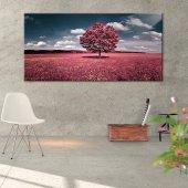 Pembe Renk Ağaçlı Tablo 70 cm x 140 cm