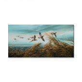 göç eden kuşlar kanvas tablosu 50 cm x 100 cm