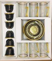 18 Parça Çay Ve Kahve Seti Siyah