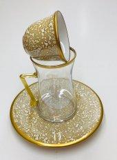 18 Parça Çay Ve Kahve Seti Sarı