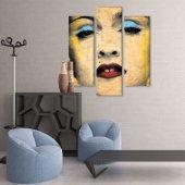 3 Parçalı  Kanvas Tablo -Marilyn Monroe  Kanvas Tablosu BÜYÜK BOY