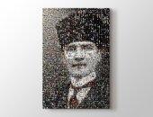 Atatürk Mozaik Kanvas Tablo 100 x 140 cm