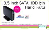 DIGITUS 3,5 HDD KUTU,SATA, USB 3,0,SİYAH DA-71035