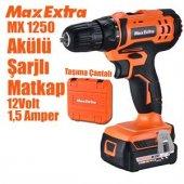 Max Extra Mx1250 Akülü Şarjlı Vidalama Matkap 12v ...