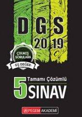 2019 Dgs Tamamı Çözümlü 5 Sınav Pegem Yayınları