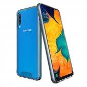 Galaxy A50 Kılıf Zore Gard Silikon Kapak + Cam Ekran Koruyucu He