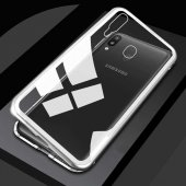 Galaxy A30 Kılıf Zore Devrim Mıknatıslı Cam Kapak + Cam Ekran Kor