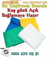 Beyaz Renk Çadır Brandası 3x3 Ebat Hazır Kenarı...