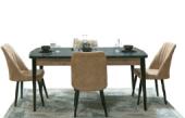 Charlene Yemek Odası Takımı-Masa Sandalye Konsol Tv Ünitesi-5
