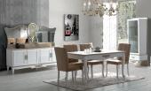 Wilma Yemek Odası Takımı Masa Sandalye Konsol Vitrin