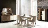 Stacey Yemek Odası Takımı Masa Sandalye Konsol Vitrin