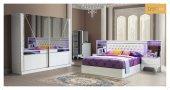 Pearl Yatak Odası Takımı Baza+dolap+komodin+aynalı Şifonyer