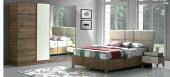 Stacey Yatak Odası Takımı Baza+dolap+komodin+aynalı Şifonyer
