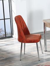 Lauren 4 Adet Metal Ayaklı Mutfak Salon Cafe Bahçe Sandalyesi