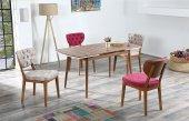 Audrey Bertha Yemek Odası Takımı Masa Ve 4 Adet Sandalye Takımı
