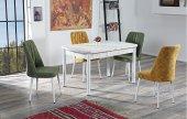 Bernice&lauren Ahşap Uzayan Yemek Masası+4 Adet Sandalye Takımı