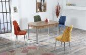 Darlene&lauren Ahşap Uzayan Yemek Masası+4 Adet Sandalye Takımı