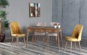 Beatrice Dolores Ahşap Uzayan Yemek Masası+4 Adet Sandalye Takımı