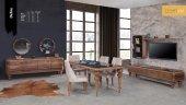Defne Yemek Odası Takımıı Masa + 4 Adet Sandalye + Konsol