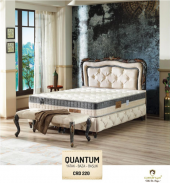 Quantum Ortapedik Tek Kişilik Yatak + Baza + Başlık 90x200