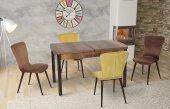 Bernice Regina Yemek Masası Masa Ve 4 Adet Sandalye Takımı
