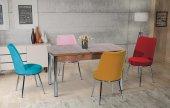 Darlene Lucy Yemek Masası Masa Ve + 4 Adet Sandalye Takımı